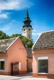 Serbian Orthodox Church of St. George in Sombor. Sombor, Serbia July 12, 2017: Serbian Orthodox Church of St. George in Sombor stock images