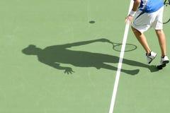Sombra 02 del tenis Fotografía de archivo