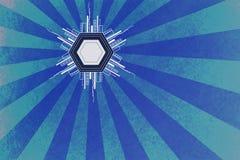 Sombra abstracta azul del fondo Fotografía de archivo