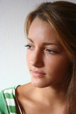 Sombra adolescente de la muchacha Imagen de archivo libre de regalías