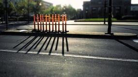 Sombra anaranjada del cilindro Imagen de archivo