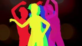 Sombra atractiva del bailarín, silueta ilustración del vector