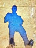 Sombra błękit Zdjęcie Royalty Free