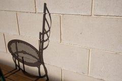 Sombra da cadeira imagem de stock