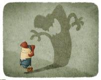 Sombra da carcaça da mulher de uma mulher irritada ilustração stock