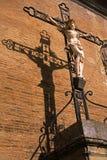 A sombra da cruz Fotografia de Stock