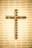 Sombra da cruz. Imagem de Stock