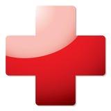 Sombra da cruz vermelha ilustração royalty free