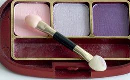 Sombra da escova e de olho do close up Foto de Stock Royalty Free