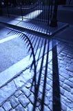 Sombra da estrada do Cobblestone Fotos de Stock Royalty Free