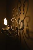 A sombra da lâmpada de parede Foto de Stock