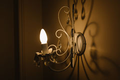 A sombra da lâmpada de parede Foto de Stock Royalty Free