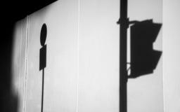A sombra da luz Fotografia de Stock