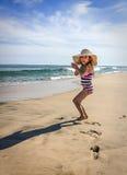 Sombra da praia Imagens de Stock