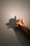Sombra da silhueta do cão Fotos de Stock Royalty Free