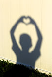 Sombra da silhueta do coração Fotografia de Stock