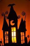 Sombra da vela de Halloween fotografia de stock