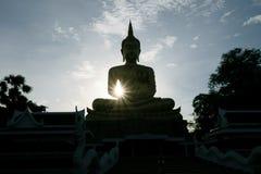 Sombra de Buda por la tarde Fotos de archivo libres de regalías