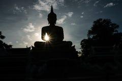 Sombra de Buda por la tarde Fotografía de archivo libre de regalías