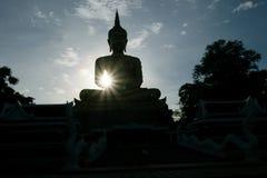 Sombra de Buda por la tarde Foto de archivo
