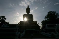 Sombra de Buda por la tarde Fotografía de archivo