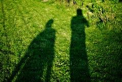 Sombra de dois povos Imagem de Stock