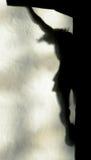 Sombra de Jesus Christ en la cruz Imagen de archivo libre de regalías
