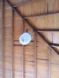 sombra de lámpara blanca agradable del color del veru de la casa Imagen de archivo