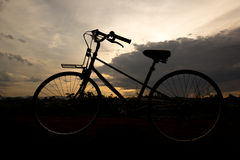 Sombra de la bicicleta Imagen de archivo