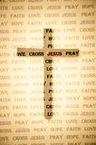 Sombra de la cruz. Imagen de archivo