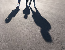 Sombra de la gente Foto de archivo libre de regalías