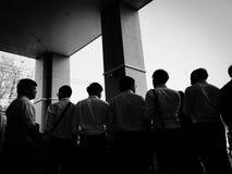 Sombra de la gente Fotografía de archivo