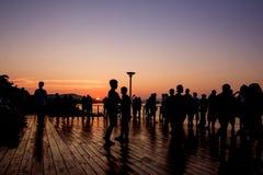 Sombra de la gente Imagen de archivo