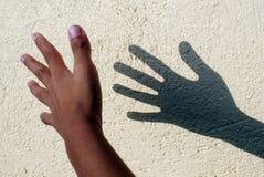 Sombra de la mano Imagen de archivo