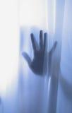 Sombra de la mano del horror Fotografía de archivo