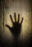 Sombra de la mano del horror Fotografía de archivo libre de regalías