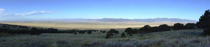Sombra de la montaña de Sanger De Cristo Valley Fotos de archivo libres de regalías