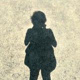 Sombra de la muchacha Imagen de archivo libre de regalías