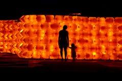 Sombra de la noche en el parque Fotografía de archivo libre de regalías