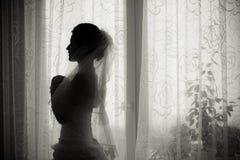Sombra de la novia Imágenes de archivo libres de regalías