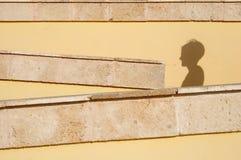 Sombra de la pared Imagen de archivo