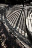 Sombra de la puerta del parque de los regentes foto de archivo