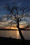 Sombra de la puesta del sol Fotos de archivo libres de regalías