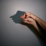 Sombra de la silueta del hombre Foto de archivo