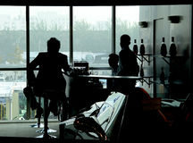 Sombra de la ventana Foto de archivo