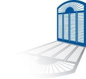 Sombra de la ventana ilustración del vector