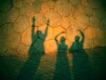 Sombra de tres fantasmas de baile Fotos de archivo libres de regalías