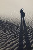 Sombra de um fotógrafo Fotografia de Stock
