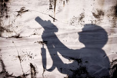 Sombra de um fotógrafo Fotografia de Stock Royalty Free