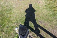 Sombra de um homem Foto de Stock